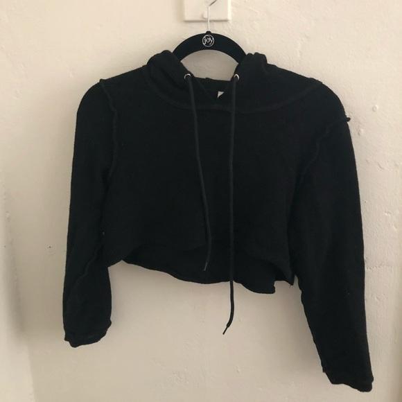 192ab8eacd danielle guizio Sweaters - DANIELLE GUIZIO DG CROPPED HOODIE